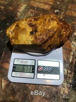Natural Baltic Amber Stone 673 grams