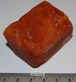 Natural Baltic Amber Stone. Egg Yolk/Butterscotch color. 46 gr (a449)