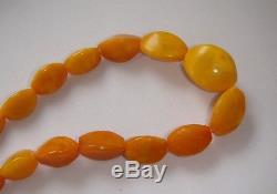 Natural Baltic Amber Vintage Necklace Egg Yolk Butterscotch Royal Amber 44,3 gr