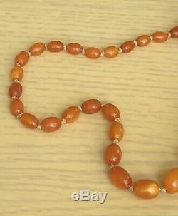 Natural Baltic Butterscotch Egg Yolk Amber Bead Necklace