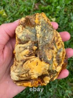 Natural Baltic Royal White Amber Stone 199g