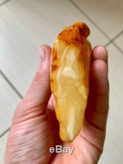Natural Baltic Tiger Style Amber Stone 156g