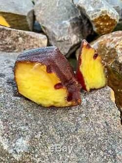 Natural Baltic Tiger Style Amber Stone 176g
