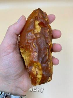Natural Baltic Tiger Style Amber Stone 227g