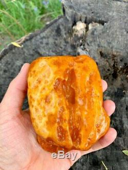 Natural Baltic Tiger Style Amber Stone 237g