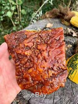 Natural Baltic Tiger Style Amber Stone 351g