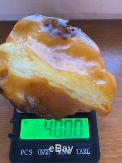 Natural Baltic Tiger Style Amber Stone 400g