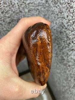 Natural Baltic Tiger Style Amber Stone 414g