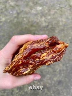 Natural Baltic Tiger Style Amber Stone 634g