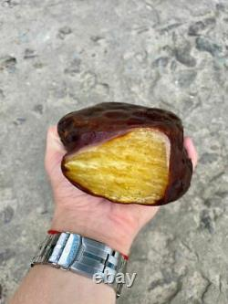 Natural Baltic Tiger Style Amber Stone 794g