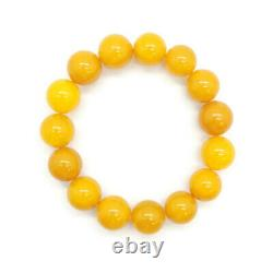 Natural Baltic antique amber color round beads bracelet