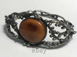 Natural Beautiful Antique Baltic Vintage Egg Yolk Amber Butterscotch Bracelet