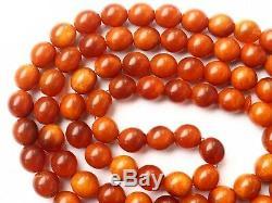 Natural Butterscotch 99 pcs Baltic Amber Bead Rosary Kahrman Misbah Tesbih 139gr