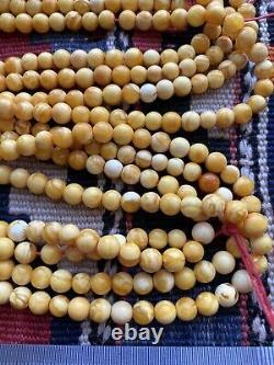 Natural Butterscotch Egg Yolk Baltic Amber Necklace Praying Beads