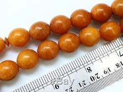 Natural Butterscotch Yolk Baltic Amber Beads Rosary Kahrman Misbah Tesbih 61 gr