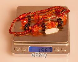 Natural Cognac BALTIC AMBER Necklace 15.67g R101054