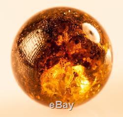 Natural Dark Brown Cognac Egg Yolk Genuine BALTIC AMBER Stone 16.96g R101029