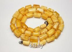 Natural Egg Yolk Butterscotch Amber Baltic Necklace 28,8 gr