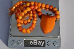 Natural Egg Yolk Butterscotch Baltic amber necklace