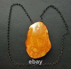 Natural Genuine Antique Butterscotch Egg Yolk Baltic Amber Pendant 55g