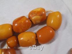 Natural Genuine Baltic Amber Butterscotch Egg Yolk Beads- 45.4g- 9.25 Strand -j