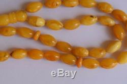 Natural Genuine Baltic Butterscotch Amber- Islamic prayer beads Tasbih