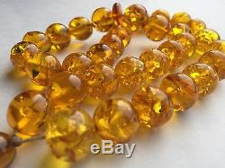 Natural Large Transparent Baltic Amber Butterscotch Kerhibar Prayer Beads