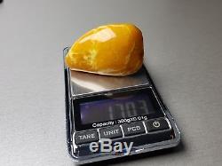 Natural Old 17.03 gr. Butterscotch Egg Yolk Baltic Amber Brooch