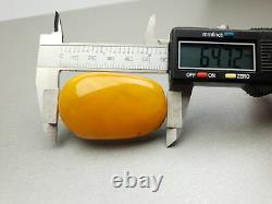 Natural Old 22.52 gr. Butterscotch Egg Yolk BALTIC CABOCHON AMBER BROOCH
