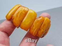 Natural Old 25.24 gr. Butterscotch Egg Yolk Baltic Amber Bracelet