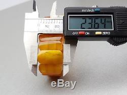 Natural Old 27.37 gr. Butterscotch Egg Yolk Baltic Amber Bracelet