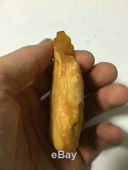 Natural Old White Amber Stone 32 g