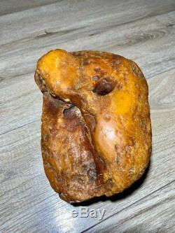 Natural Old White Amber Tiger Stile Stone 1208g