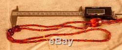 Natural Red / Brown BALTIC AMBER Necklace 25.35g R101048