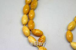 Natural Untreated Baltic Butterscotch Amber Necklace Praying Beads Tasbih