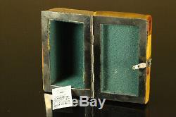 Natural Vintage 132g. Butterscotch Egg Yolk Baltic Amber Stone jewelry Box C297