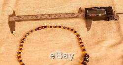 Natural Yellow / Brown BALTIC AMBER Necklace 13.64g R101046