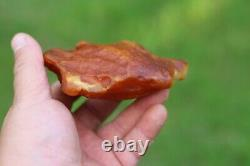 Natural Yellow White Baltic Amber Stone 186 grams