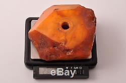 Natural antique Baltic butterscotch amber pen holder 230.45g size 100x87x38mm