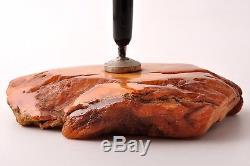 Natural antique Baltic butterscotch amber stone pen holder 245.10g 138x106x28mm