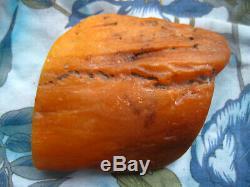 Natural baltic amber stone rock 130.7 gr. Bernstein