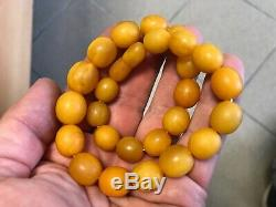 Natural old baltic amber necklace butterscotch color, 36,8gr