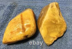 Naturbernstein, baltic amber, raw amber, butterscotch amber, 125 g