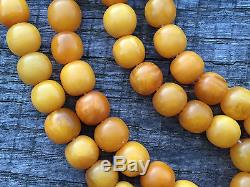 Old Eggyolk Butterscotch Natural Baltic Amber Necklace Beads