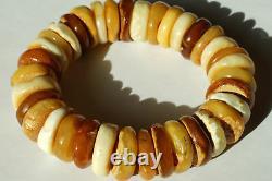 Old Baltic States Natural Amber Bracelet 43 G Multicolor Baltic Amber Bracelet