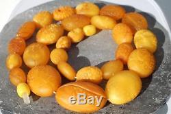 Old Baltic amber men, women necklace 31 grams. No import customs tax worldwide