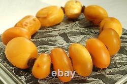 Old Baltic natural hand amber bracelet 37 grams. Men women Baltic amber bracelet