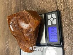 Old Marbel Baltic Amber stone (335g.)