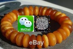 Old Natural Baltic amber bracelet 24 grams honey color. NO IMPORT CUSTOMS TAX