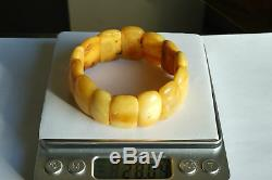 Old Natural Baltic traditional amber hand bracelet 28 g. Men, women bracelet